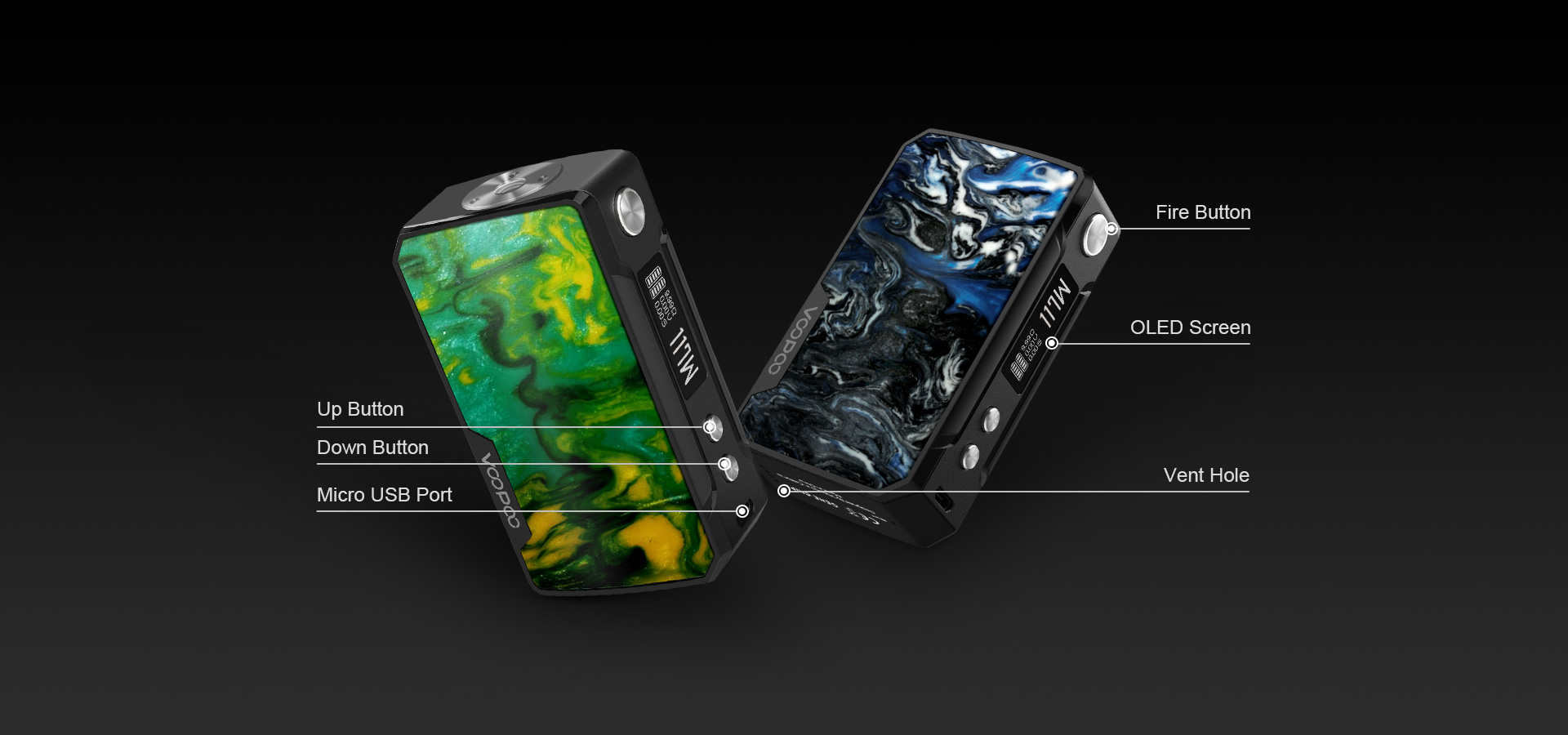 DRAG mini 13 1 VOOPOO Drag Mini 117W TC Mod 4400mAh Xsmokers